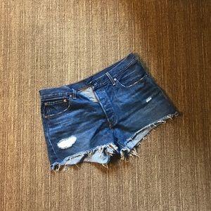 Levi's High-Waisted Jean Shorts